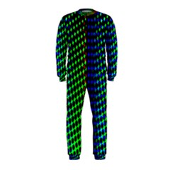 Digitally Created Halftone Dots Abstract Background Design OnePiece Jumpsuit (Kids)