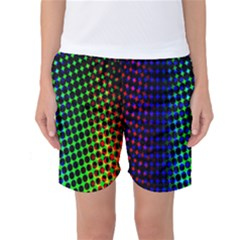 Digitally Created Halftone Dots Abstract Background Design Women s Basketball Shorts