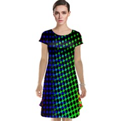 Digitally Created Halftone Dots Abstract Background Design Cap Sleeve Nightdress