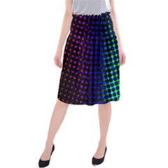Digitally Created Halftone Dots Abstract Background Design Midi Beach Skirt