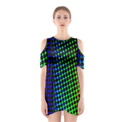 Digitally Created Halftone Dots Abstract Background Design Shoulder Cutout One Piece