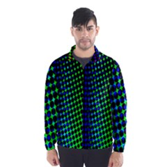Digitally Created Halftone Dots Abstract Background Design Wind Breaker (men)