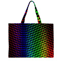 Digitally Created Halftone Dots Abstract Background Design Large Tote Bag