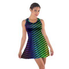 Digitally Created Halftone Dots Abstract Background Design Cotton Racerback Dress