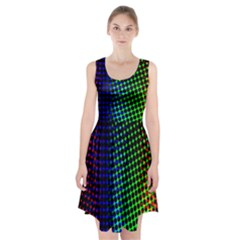 Digitally Created Halftone Dots Abstract Background Design Racerback Midi Dress