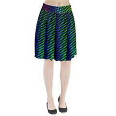 Digitally Created Halftone Dots Abstract Background Design Pleated Skirt