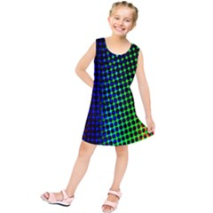 Digitally Created Halftone Dots Abstract Background Design Kids  Tunic Dress