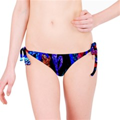 Grunge Abstract In Black Grunge Effect Layered Images Of Texture And Pattern In Pink Black Blue Red Bikini Bottom