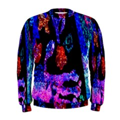Grunge Abstract In Black Grunge Effect Layered Images Of Texture And Pattern In Pink Black Blue Red Men s Sweatshirt