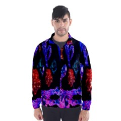 Grunge Abstract In Black Grunge Effect Layered Images Of Texture And Pattern In Pink Black Blue Red Wind Breaker (Men)