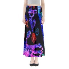 Grunge Abstract In Black Grunge Effect Layered Images Of Texture And Pattern In Pink Black Blue Red Maxi Skirts