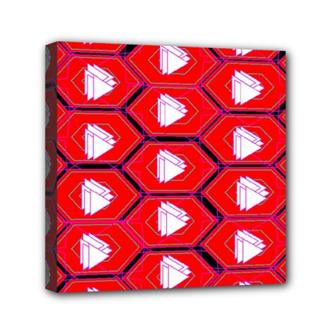 Red Bee Hive Background Mini Canvas 6  x 6