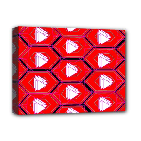 Red Bee Hive Background Deluxe Canvas 16  x 12