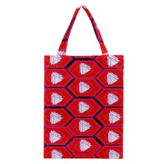 Red Bee Hive Background Classic Tote Bag