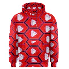 Red Bee Hive Background Men s Pullover Hoodie