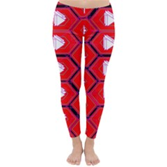 Red Bee Hive Background Classic Winter Leggings