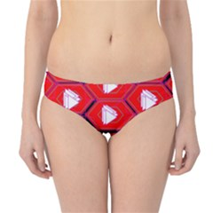 Red Bee Hive Background Hipster Bikini Bottoms