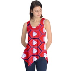 Red Bee Hive Background Sleeveless Tunic