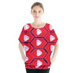 Red Bee Hive Background Blouse