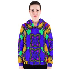 Digital Kaleidoscope Women s Zipper Hoodie