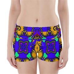 Digital Kaleidoscope Boyleg Bikini Wrap Bottoms