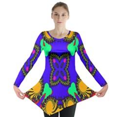 Digital Kaleidoscope Long Sleeve Tunic