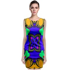 Digital Kaleidoscope Classic Sleeveless Midi Dress