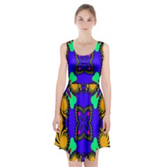 Digital Kaleidoscope Racerback Midi Dress