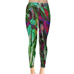 Bright Tropical Background Abstract Background That Has The Shape And Colors Of The Tropics Leggings
