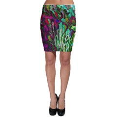 Bright Tropical Background Abstract Background That Has The Shape And Colors Of The Tropics Bodycon Skirt