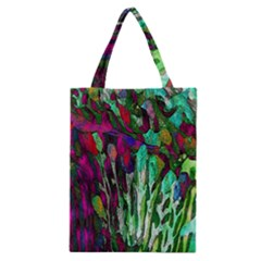 Bright Tropical Background Abstract Background That Has The Shape And Colors Of The Tropics Classic Tote Bag