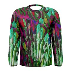 Bright Tropical Background Abstract Background That Has The Shape And Colors Of The Tropics Men s Long Sleeve Tee