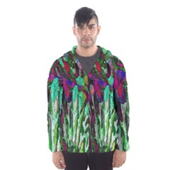Bright Tropical Background Abstract Background That Has The Shape And Colors Of The Tropics Hooded Wind Breaker (Men)