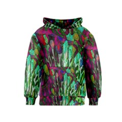 Bright Tropical Background Abstract Background That Has The Shape And Colors Of The Tropics Kids  Pullover Hoodie
