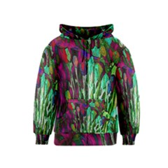 Bright Tropical Background Abstract Background That Has The Shape And Colors Of The Tropics Kids  Zipper Hoodie