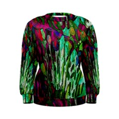 Bright Tropical Background Abstract Background That Has The Shape And Colors Of The Tropics Women s Sweatshirt