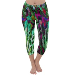 Bright Tropical Background Abstract Background That Has The Shape And Colors Of The Tropics Capri Winter Leggings
