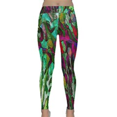Bright Tropical Background Abstract Background That Has The Shape And Colors Of The Tropics Classic Yoga Leggings