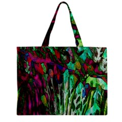 Bright Tropical Background Abstract Background That Has The Shape And Colors Of The Tropics Zipper Mini Tote Bag