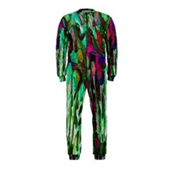 Bright Tropical Background Abstract Background That Has The Shape And Colors Of The Tropics Onepiece Jumpsuit (kids)