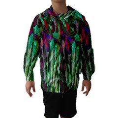 Bright Tropical Background Abstract Background That Has The Shape And Colors Of The Tropics Hooded Wind Breaker (kids)