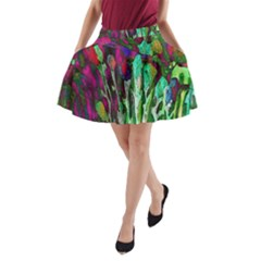 Bright Tropical Background Abstract Background That Has The Shape And Colors Of The Tropics A-Line Pocket Skirt