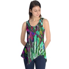 Bright Tropical Background Abstract Background That Has The Shape And Colors Of The Tropics Sleeveless Tunic
