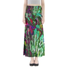 Bright Tropical Background Abstract Background That Has The Shape And Colors Of The Tropics Maxi Skirts
