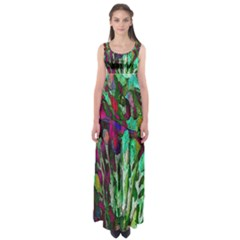 Bright Tropical Background Abstract Background That Has The Shape And Colors Of The Tropics Empire Waist Maxi Dress