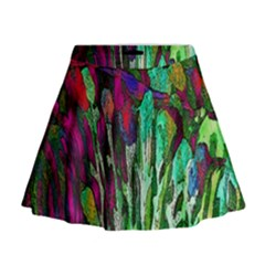 Bright Tropical Background Abstract Background That Has The Shape And Colors Of The Tropics Mini Flare Skirt