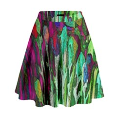 Bright Tropical Background Abstract Background That Has The Shape And Colors Of The Tropics High Waist Skirt