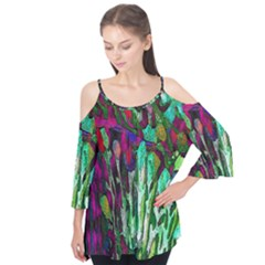 Bright Tropical Background Abstract Background That Has The Shape And Colors Of The Tropics Flutter Tees