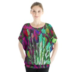 Bright Tropical Background Abstract Background That Has The Shape And Colors Of The Tropics Blouse