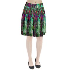 Bright Tropical Background Abstract Background That Has The Shape And Colors Of The Tropics Pleated Skirt